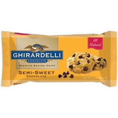 GHIRARDELLI SEMI-SWEET CHOCOLATE BAKING CHIPS - ALL NATURAL