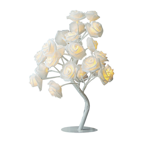 Rose Tree LED Table Lamp Home Decoration Lights Bedside Lamp Tree Light with 24 LEDs for Christmas Party Wedding Home Bedroom Living Room Indoor Decoration (EU Plug)