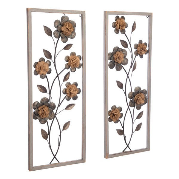 Daisy set ff 2 wall decor multicolor