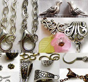Jewelry Making Supplies, Chains, Beads, Glue, Mosaic, Inclusions