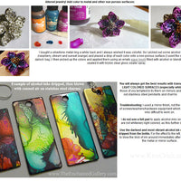 alcohol inks on metal stainless steel tags rings jewelry making