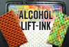 Rubber stamp clear eraser removal alcohol inks lift-ink pad to paper tutorial