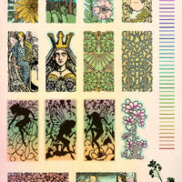 Unmounted Rubber Stamp Set Stained Glass Fairy #Glas-M04