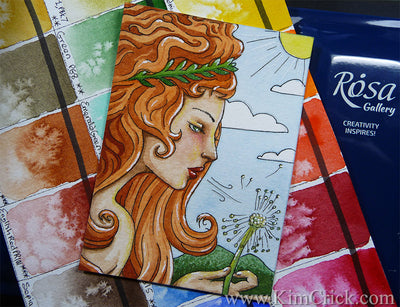Rosa Gallery Ukraine watercolor paint full pan set review painting Kimberly Crick art