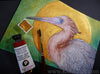 Original Art Watercolor Painting Reddish Egret Bird (Not a Print, Supports Audubon)
