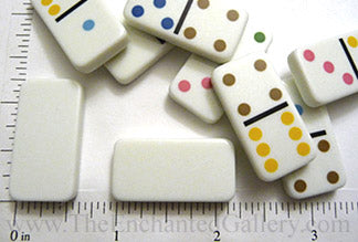 Travel Size Miniature Domino Game Tiles Package of 28 Pieces