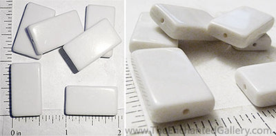 White acrylic beads for domino rubber stamping flat alcohol ink coloring