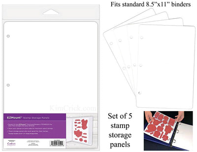 Rubber stamp storage binders white plastic sheets for 3-ring binders