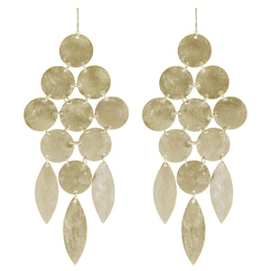 Marcia Moran Beatrix Classic Statement Chandelier Earrings GOLD