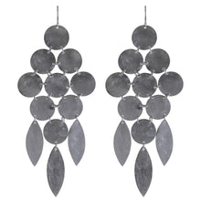 Marcia Moran Beatrix Classic Statement Chandelier Earrings Gunmetal