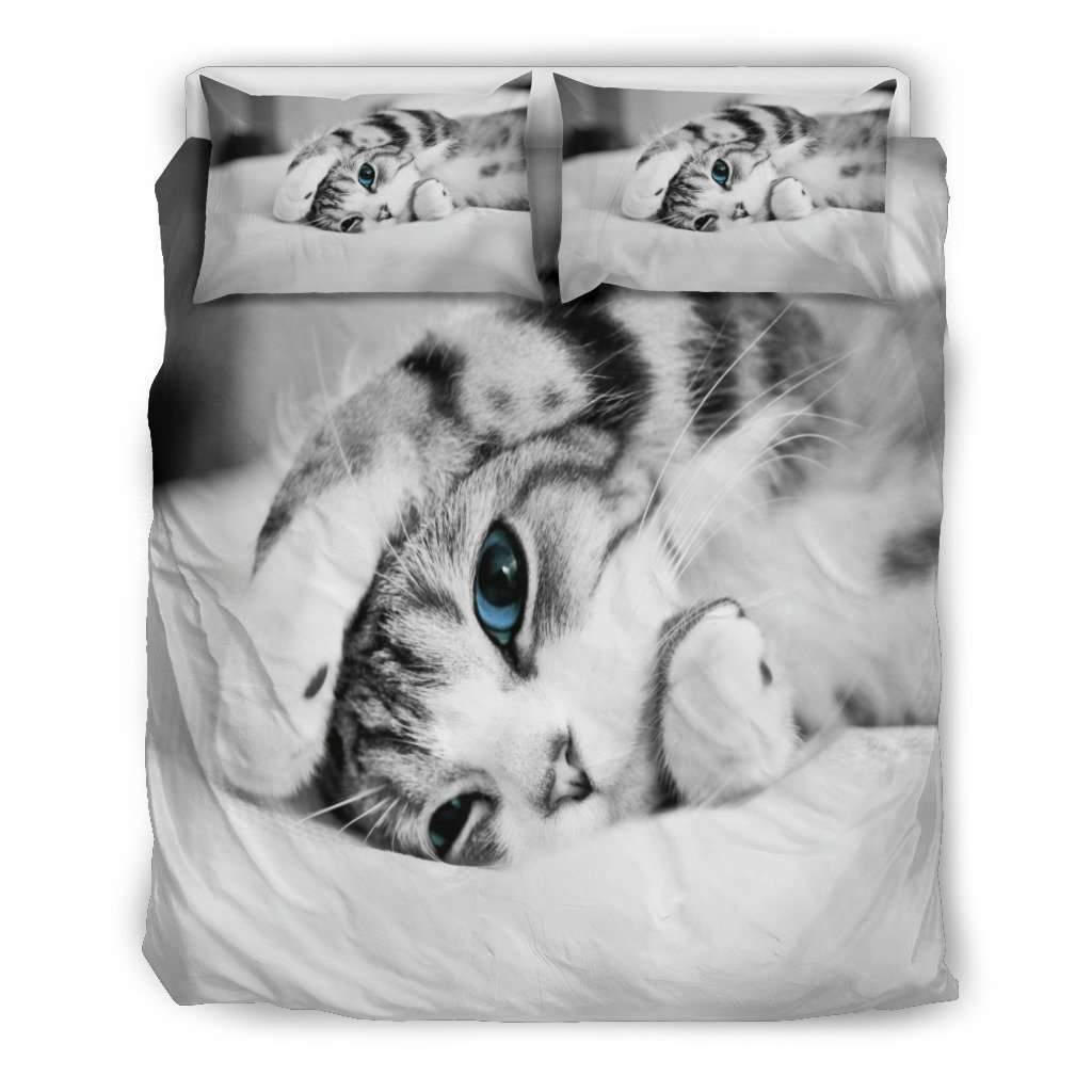 Simply Cat Lovers Doona Bedding 3 Piece Set Umisfashion Store