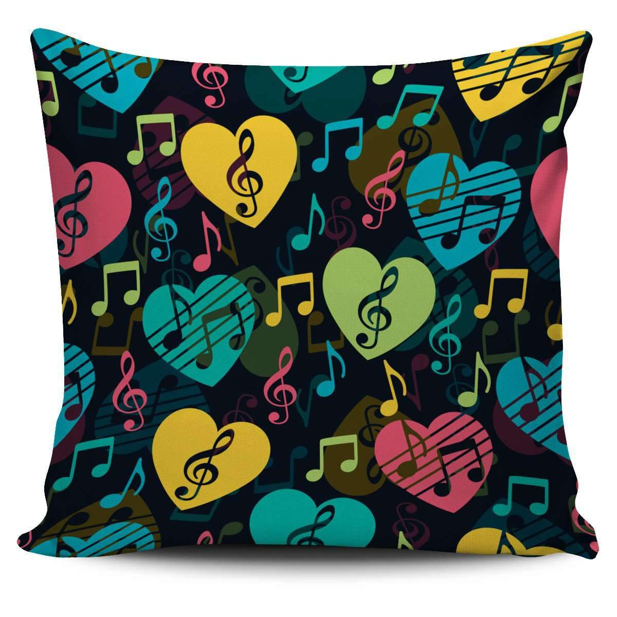 Music Heart Pillow Cover Umisfashion Store