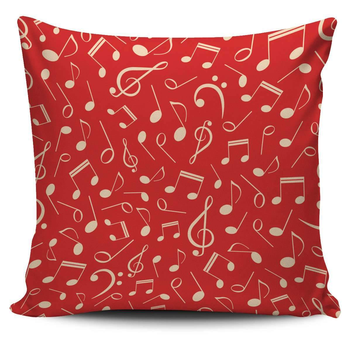 Red Music Notes Pillow Cover Umisfashion Store