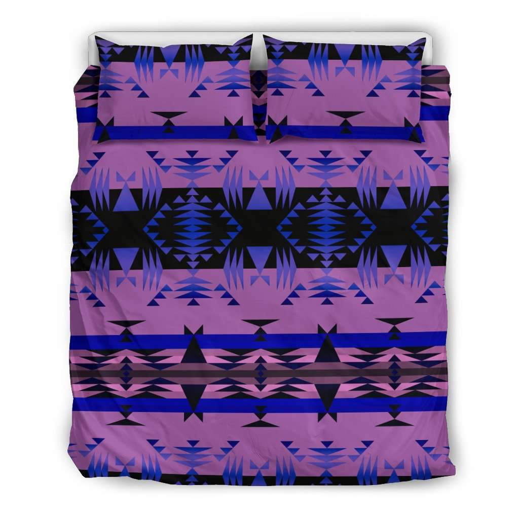 Between the Mountains Purple Bedding Set Umisfashion Store