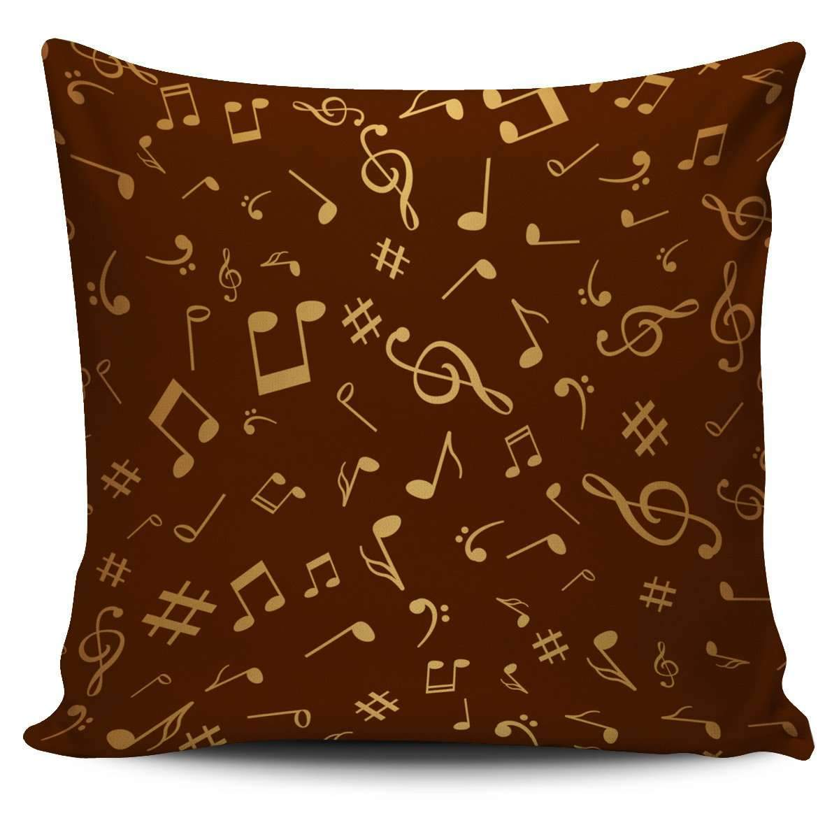 Golden Music Notes Pillow Cover Umisfashion Store