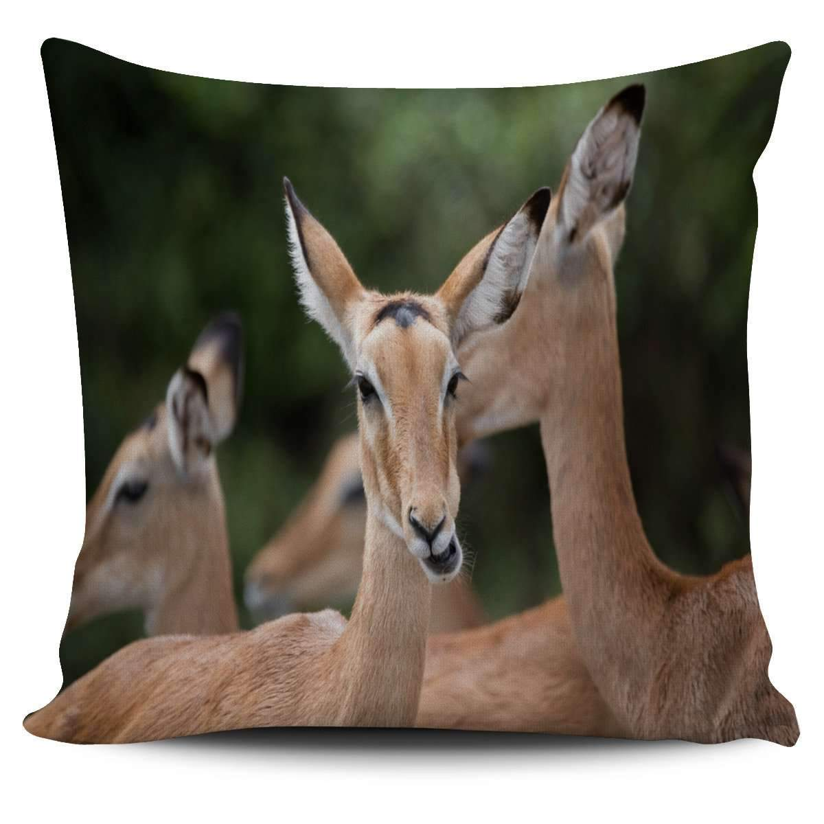 Deer Family Green Pillow Case Umisfashion Store