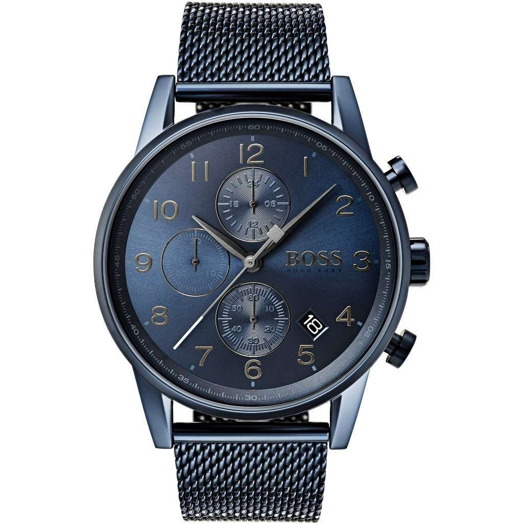 Hugo Boss 1513538 Blue Stainless Steel Mesh Bracelet Watch Steel Umisfashion Store