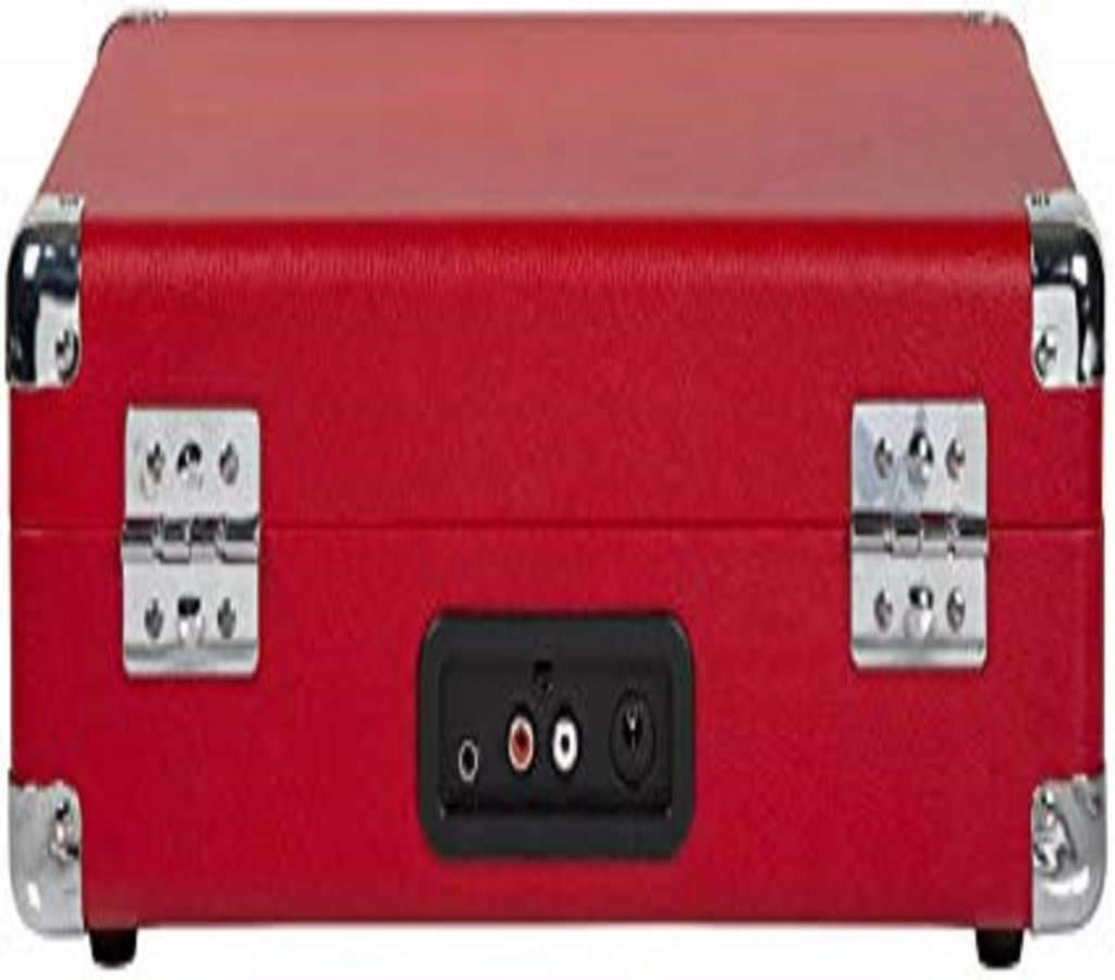 Crosley Cruiser Deluxe Vintage Suitcase Turntable with Red colour Home & Living Umisfashion Store