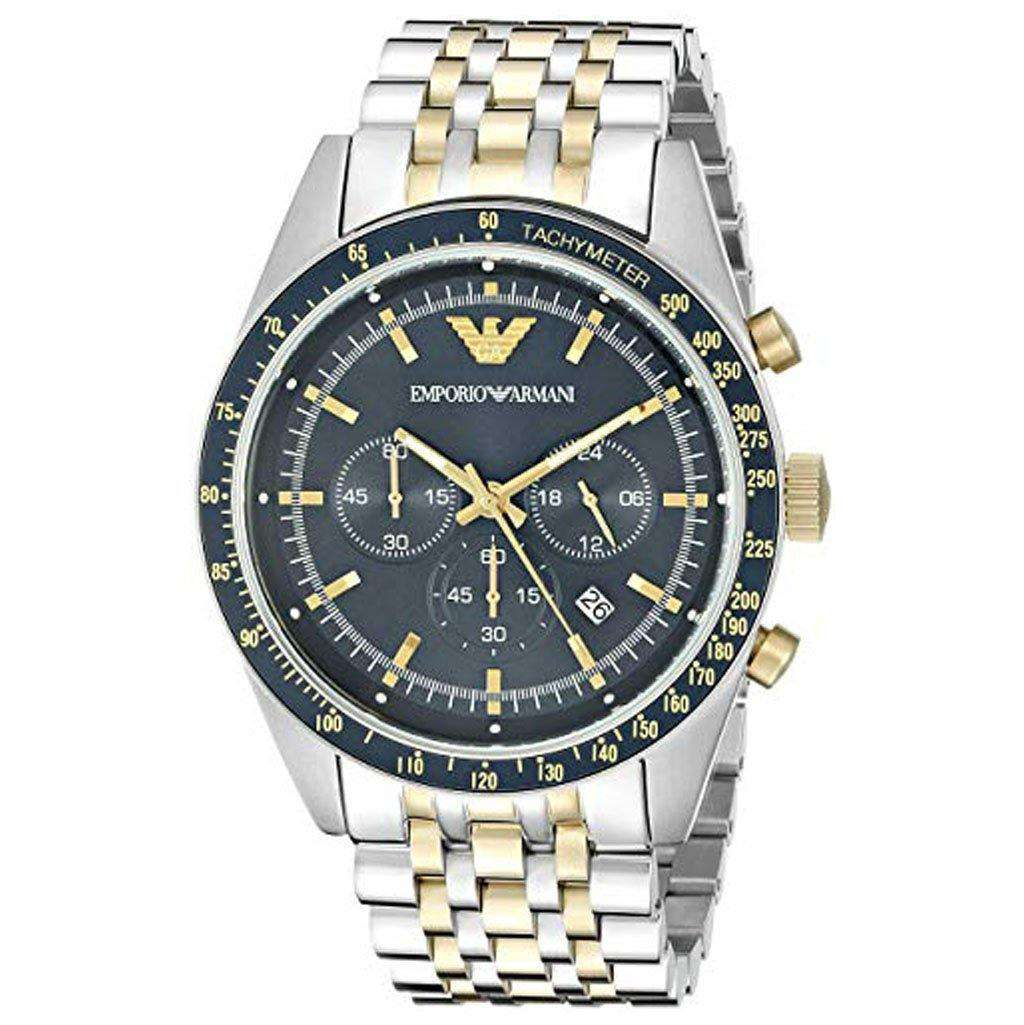 Emporio Armani AR 6088 Sport Chronograph Watch Steel Umisfashion Store