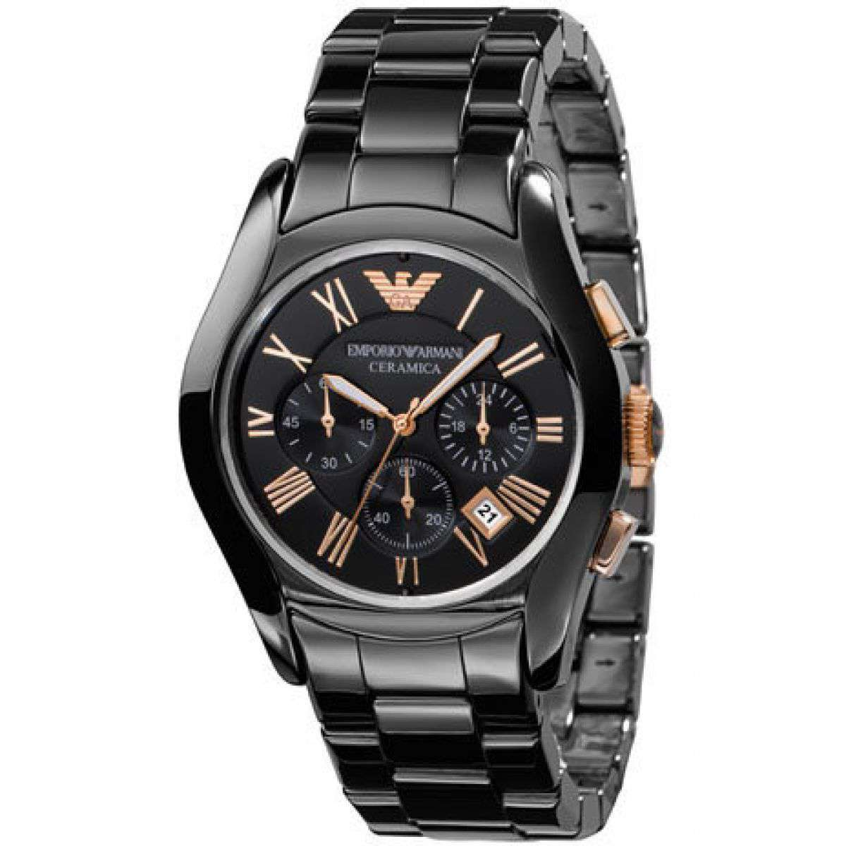 Emporio Armani Men's AR 1410 Ceramic Chronograph Watch Ceramic Umisfashion Store
