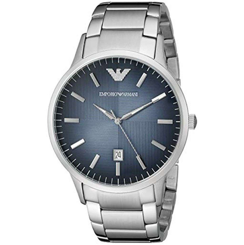 Emporio Armani Men's AR 2472 Blue Dial Watch Steel Umisfashion Store