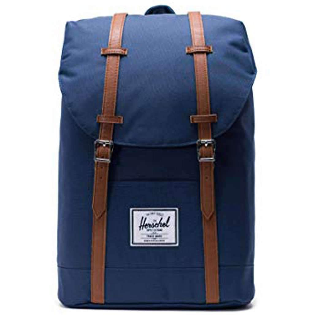 Herschel Retreat Backpack - Navy Leather Umisfashion Store