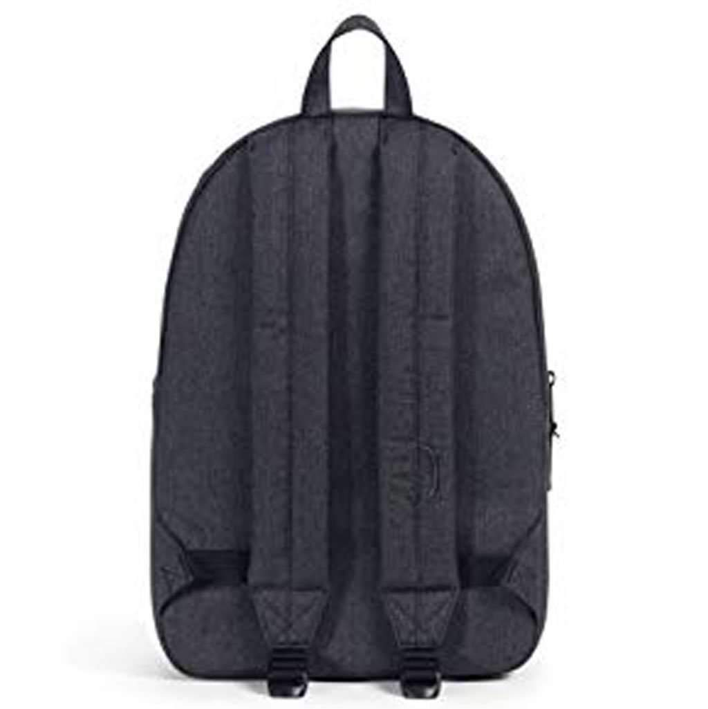 Herschel Settlement Backpack Black Crosshatch Leather Umisfashion Store