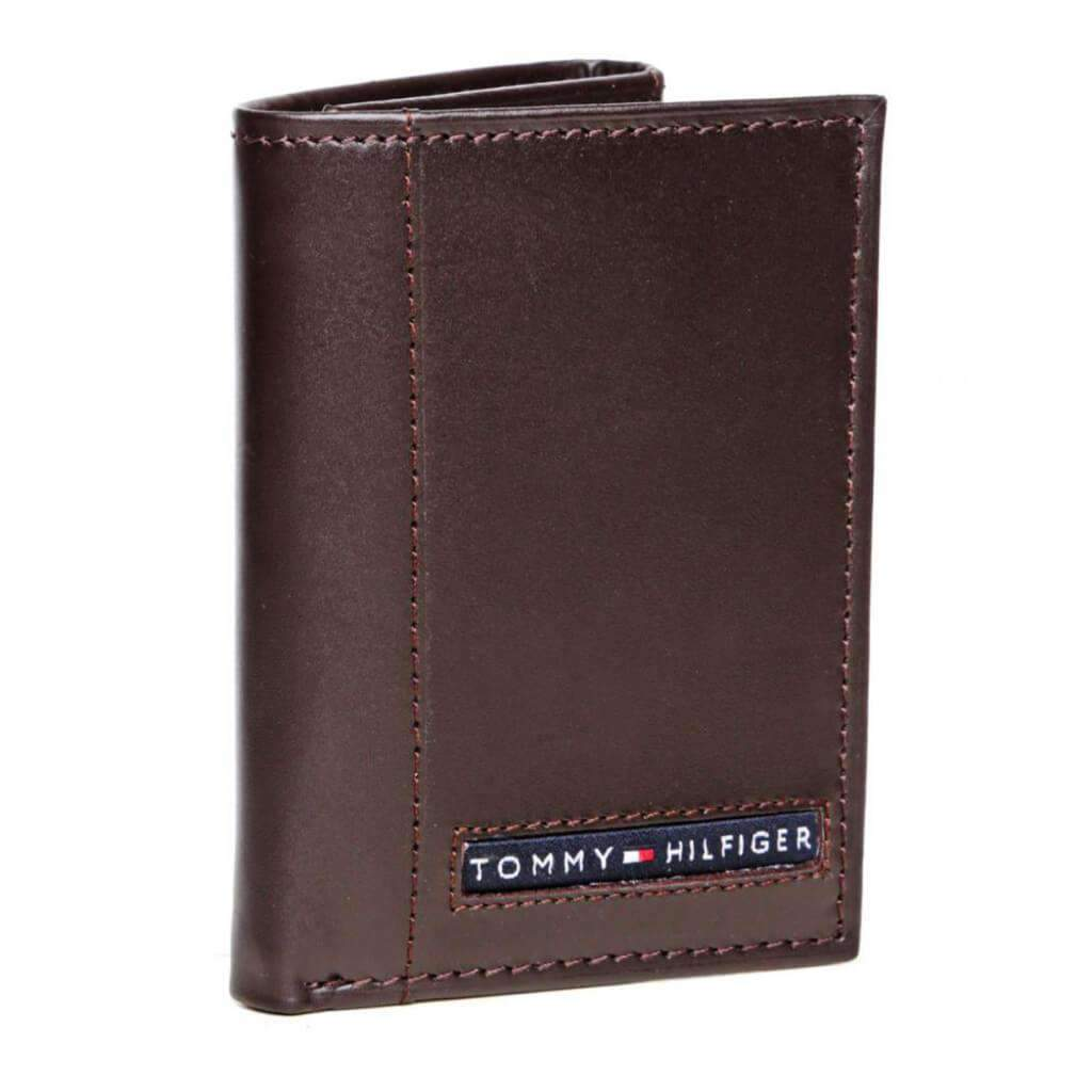 Tommy Hilfiger Trifold Wallet Dark Brown Accessories Umisfashion Store