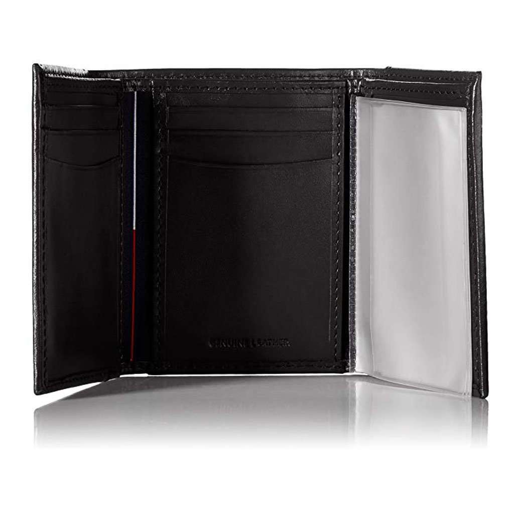 Tommy Hilfiger Men's Trifold Wallet Black Accessories Umisfashion Store