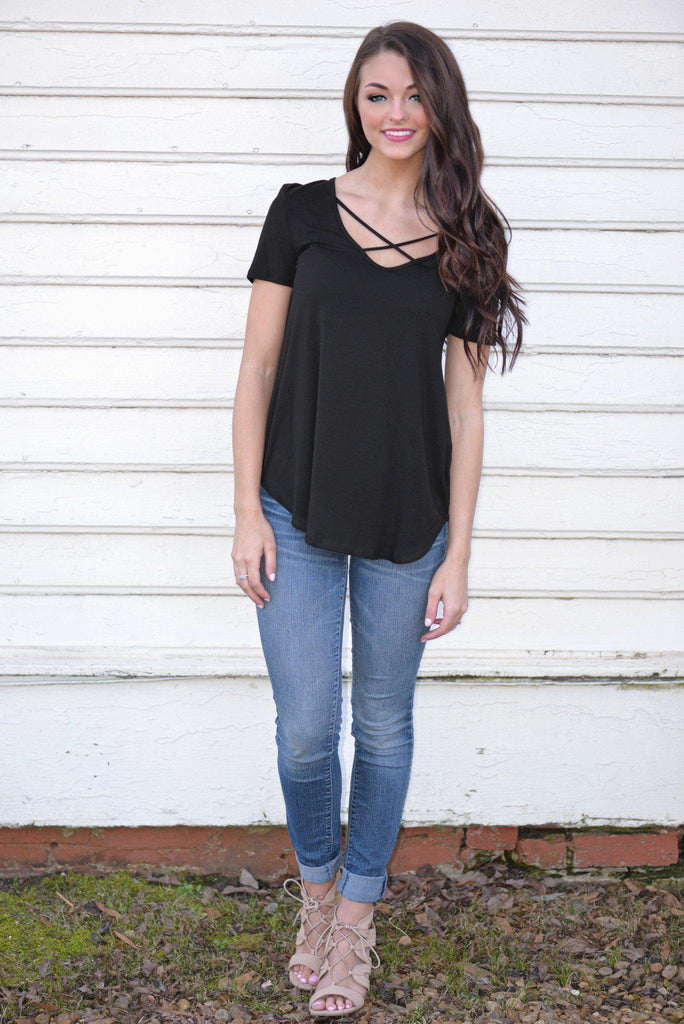 Casual Crush Black Top