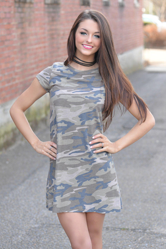 Name of the Game Camo Dress