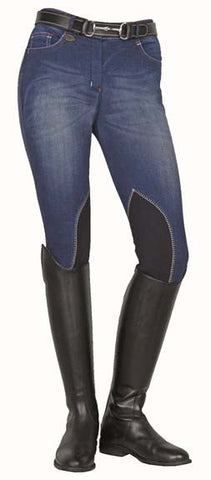 Jodhpurs -Summer Denim- with Alos knee edging 3070
