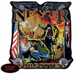 NEVER FORGOTTEN VIETNAM MEMORIAL WALL POW MIA LARGE BACK PATCH HONOR BIKER