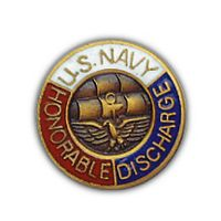 USN HONORABLE DISCHARGE HAT PIN