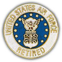 USAF RETIRED HAT PIN