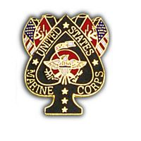 MARINE FLAGS HAT PIN