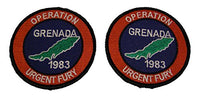 OPERATION URGENT FURY GRENADA 1983 Color 2 PATCH SET - Veteran Owned Business
