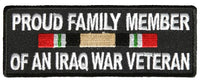 PROUD FAMILY MEMBER OF AN IRAQ WAR VETERAN WITH RIBBON Patch