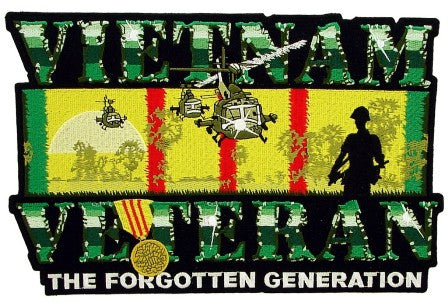 Large Vietnam Veteran Jacket Back Patch