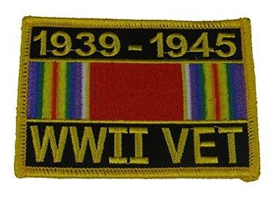 WWII WORLD WAR TWO 2 VET WITH CAMPAIGN RIBBON PATCH GREATEST GENERATION