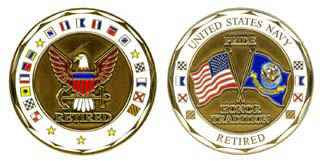U.S. NAVY RETIRED COIN