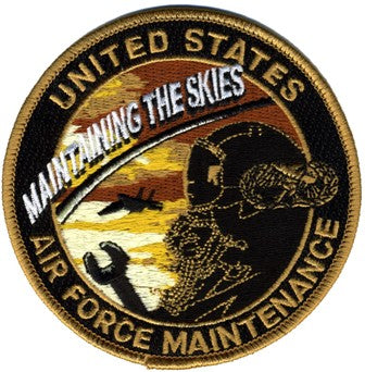 AIR FORCE MAINTENANCE - MAINTAINING THE SKIES PATCH