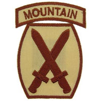 10th Mountain Division Desert Army Patch