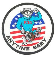 ANYTIME BABY F-14 PATCH