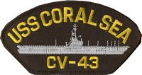 USS CORAL SEA PATCH