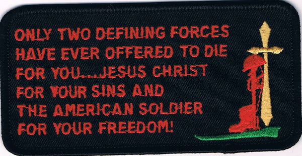 ONLY TWO DEFINING FORCES HAVE OFFERED TO DIE FOR YOU… PATCH