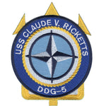 DDG-5 USS Claude V Ricketts Patch - Found per customer request! Ask Us!