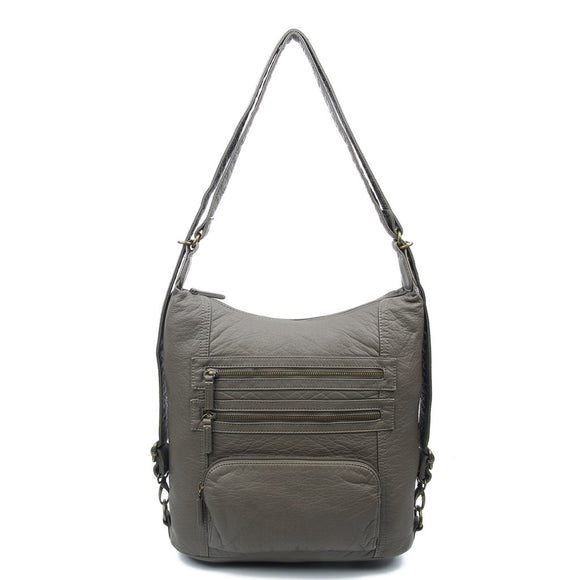 Dark Grey Convertible Backpack - B334