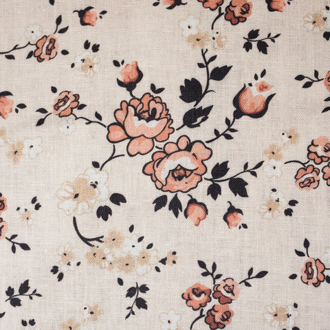 Pink and Cream Floral Linen Lining Upgrade