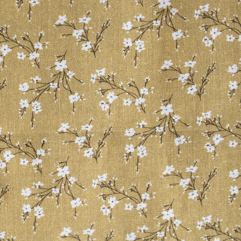 Golden Yellow Floral Linen Lining Upgrade